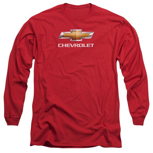 Chevrolet Chevy Bowtie Stacked Long Sleeve Adult T-Shirt