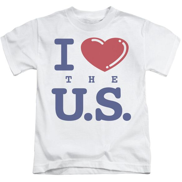 I Love The Us Short Sleeve Juvenile T-Shirt