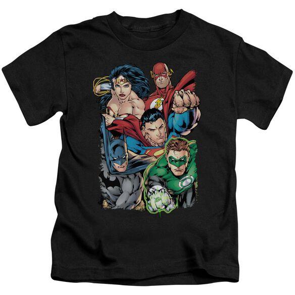 Jla Break Free Short Sleeve Juvenile Black T-Shirt