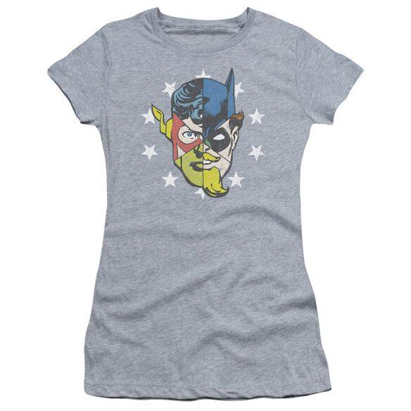 Jla Face Off Short Sleeve Junior Sheer Athletic T-Shirt