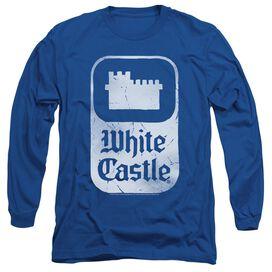 White Castle Classic Logo Long Sleeve Adult Royal T-Shirt