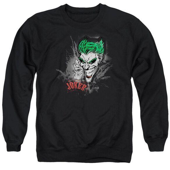 Batman Joker Sprays The City Adult Crewneck Sweatshirt
