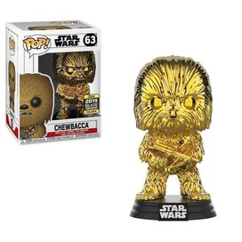 Funko Pop! Star Wars: Chewbacca Gold Chrome Galactic Convention