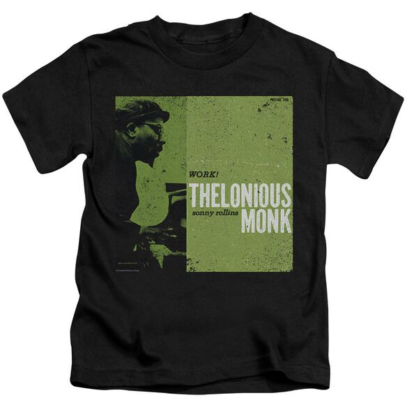 Thelonious Monk Work Short Sleeve Juvenile Black T-Shirt