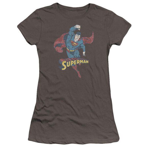 Dco Desaturated Superman Premium Bella Junior Sheer Jersey