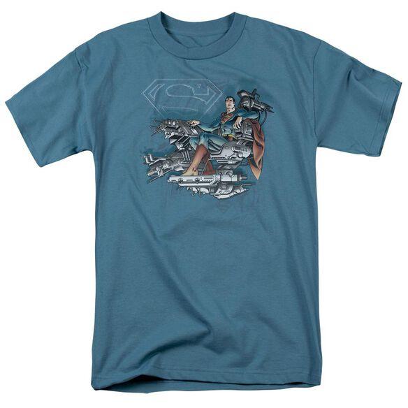 Dc Super Mind Short Sleeve Adult Slate T-Shirt