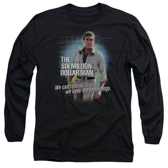 Six Million Dollar Man Technology Long Sleeve Adult T-Shirt