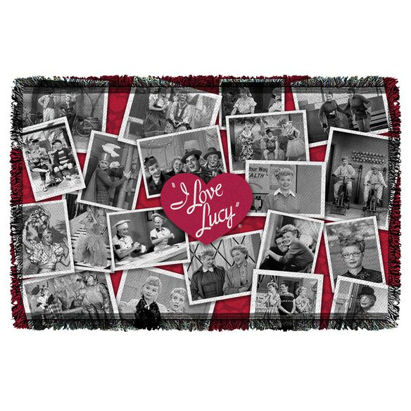 I Love Lucy Time After Time Woven Throw