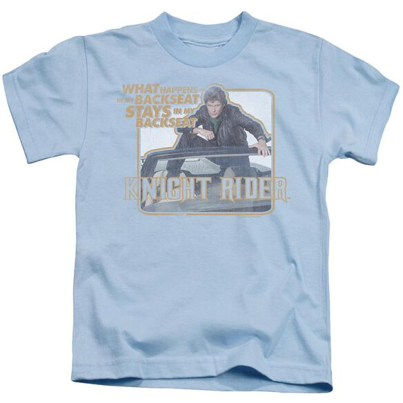 Knight Rider Back Seat Short Sleeve Juvenile Light Blue Md T-Shirt
