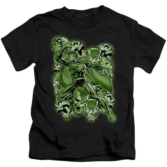 Superman Metallo Mayhem Short Sleeve Juvenile Black T-Shirt