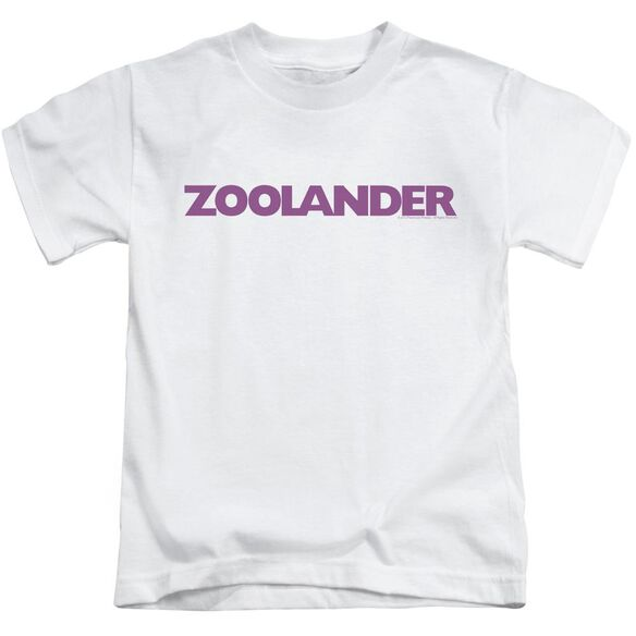 Zoolander Logo Short Sleeve Juvenile White T-Shirt
