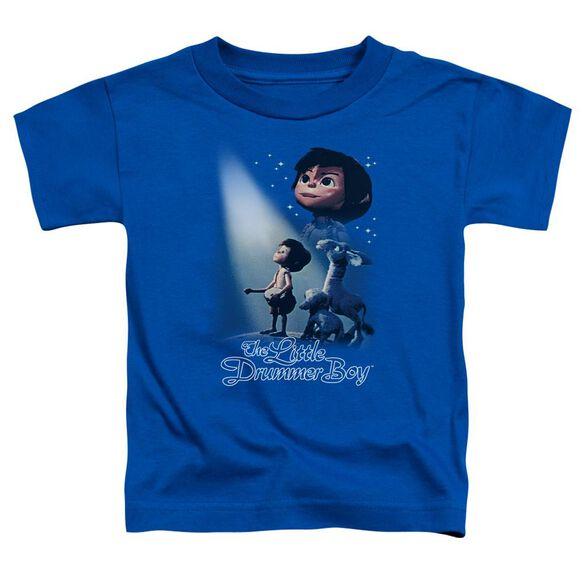 Little Drummer Boy White Light Short Sleeve Toddler Tee Royal Blue T-Shirt