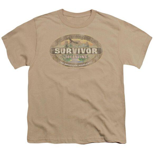 Survivor Tocantins Distressed Short Sleeve Youth T-Shirt