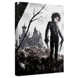 Edward Scissorhands Castle Canvas Wall Art With Back Board