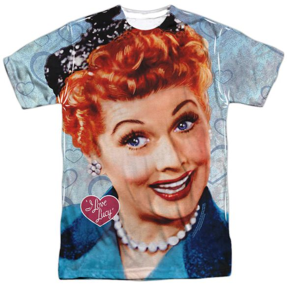 I Love Lucy Smile Short Sleeve Adult Poly Crew T-Shirt