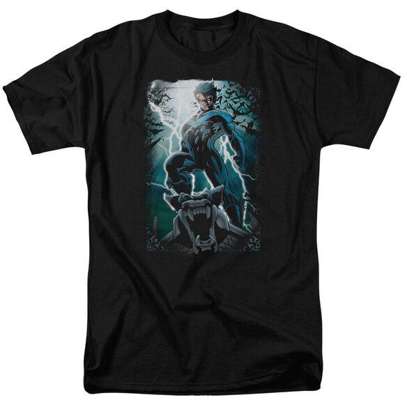 Batman Night Light Short Sleeve Adult T-Shirt