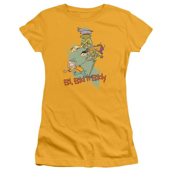 Ed Edd N Eddy Free Fall Short Sleeve Junior Sheer T-Shirt