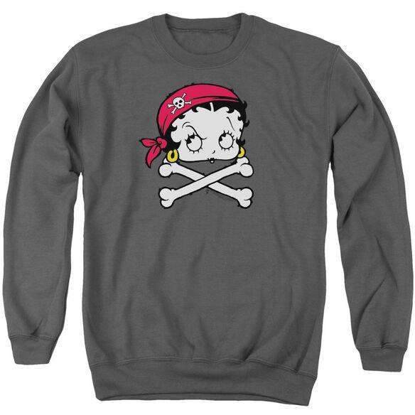 Betty Boop Pirate Adult Crewneck Sweatshirt