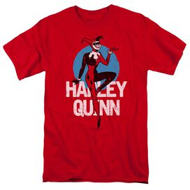 Batman The Animated Series Harley Short Sleeve Adult Red T-Shirt