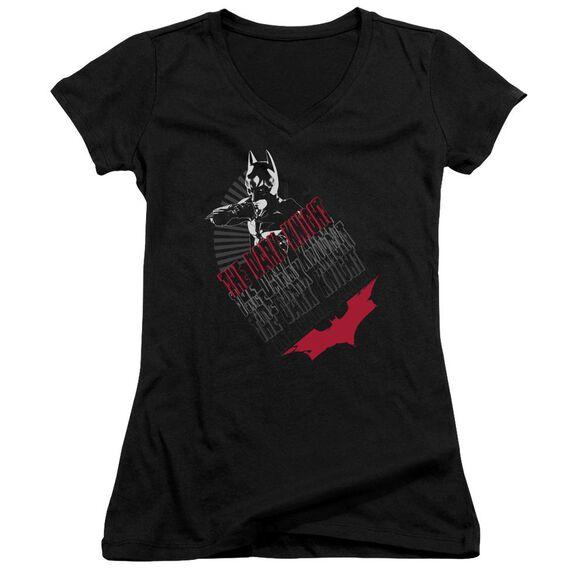 Dark Knight Stance Junior V Neck T-Shirt