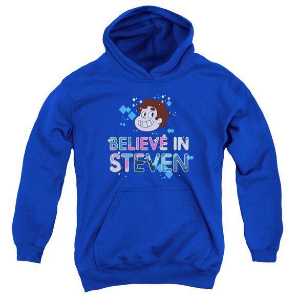 Steven Universe Believe Youth Pull Over Hoodie Royal