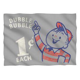 Dubble Bubble Pointing Pillow Case White
