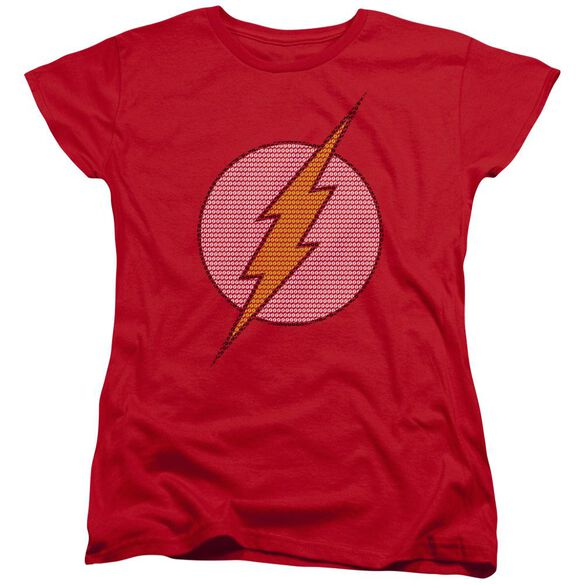 Dc Flash Flash Little Logos Short Sleeve Womens Tee T-Shirt