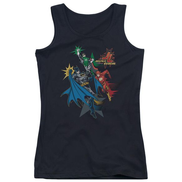 Jla Action Stars Juniors Tank Top