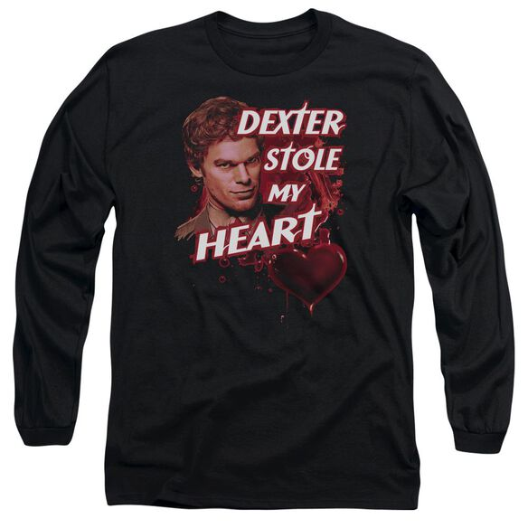 Dexter Bloody Heart Long Sleeve Adult T-Shirt