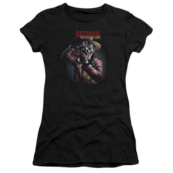 Batman Killing Joke Camera Short Sleeve Junior Sheer T-Shirt