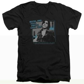 BREAKFAST CLUB BAD - S/S ADULT V-NECK 30/1 - BLACK T-Shirt