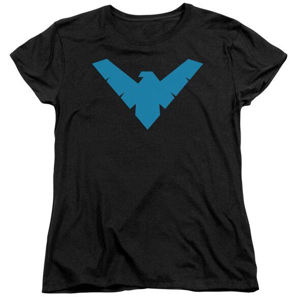 Batman Nightwing Symbol Short Sleeve Womens Tee T-Shirt