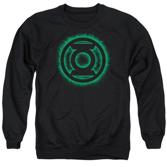 Green Lantern Green Flame Logo Adult Crewneck Sweatshirt