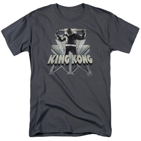 King Kong 8 Th Wonder Short Sleeve Adult Charcoal T-Shirt