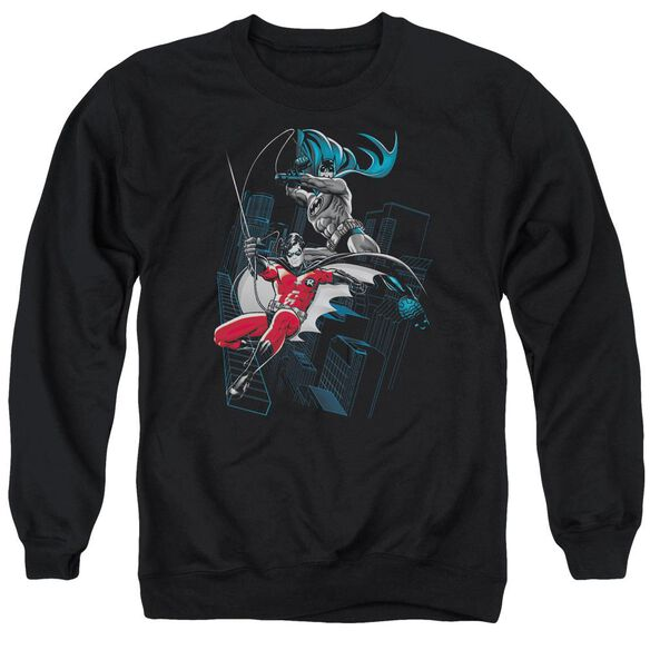 Batman And White Adult Crewneck Sweatshirt