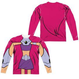 Teen Titans Go Starfire Uniform (Front Back Print) Long Sleeve Adult Poly Crew T-Shirt