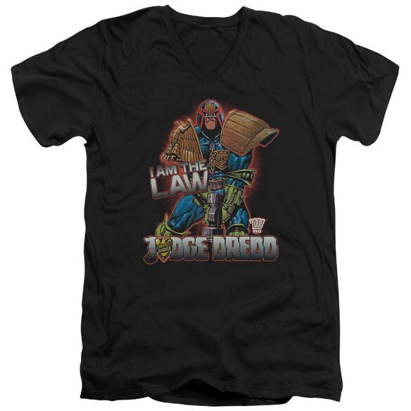 Judge Dredd Law Short Sleeve Adult V Neck T-Shirt