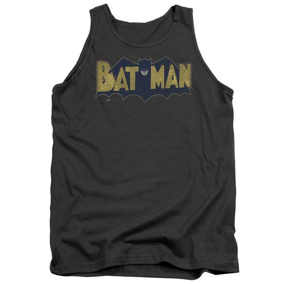 Batman Vintage Logo Splatter Adult Tank