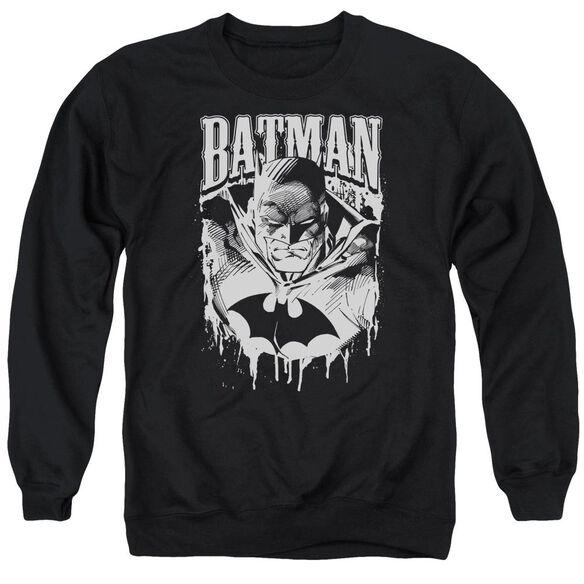Batman Bat Metal Adult Crewneck Sweatshirt