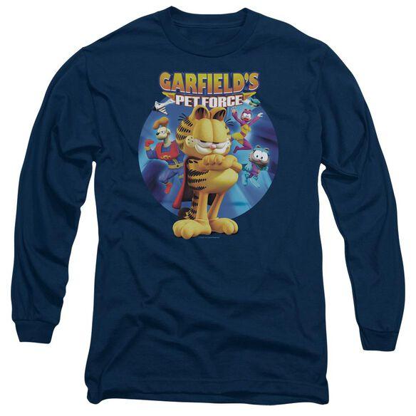 Garfield Dvd Art Long Sleeve Adult T-Shirt