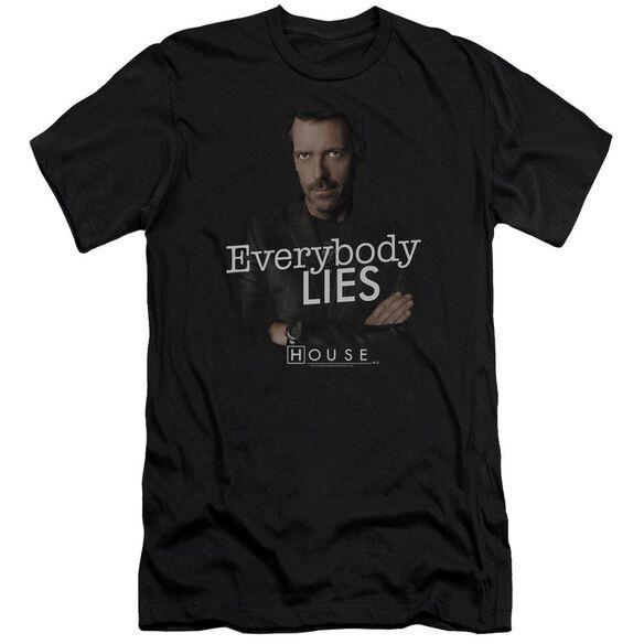House Everybody Lies Premuim Canvas Adult Slim Fit
