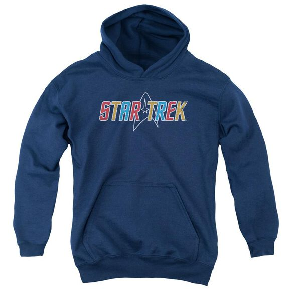 Star Trek Multi Colored Logo Youth Pull Over Hoodie