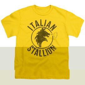 ROCKY ITALIAN STALLION HORSE - S/S YOUTH 18/1 - YELLOW T-Shirt