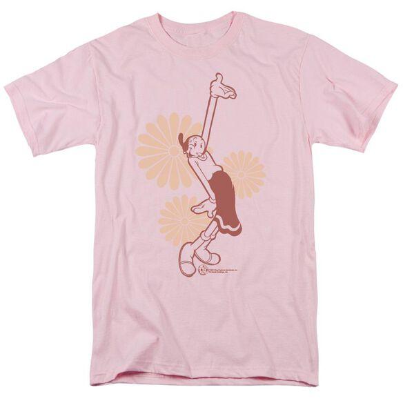 Popeye Daisies Short Sleeve Adult T-Shirt