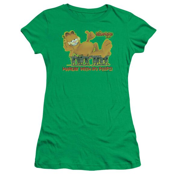 Garfield My Peeps Short Sleeve Junior Sheer Kelly T-Shirt