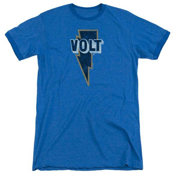 Volt Volt Logo Adult Heather Ringer Royal Blue