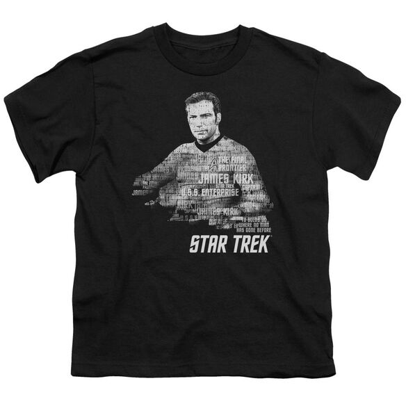 Star Trek Kirk Words Short Sleeve Youth T-Shirt