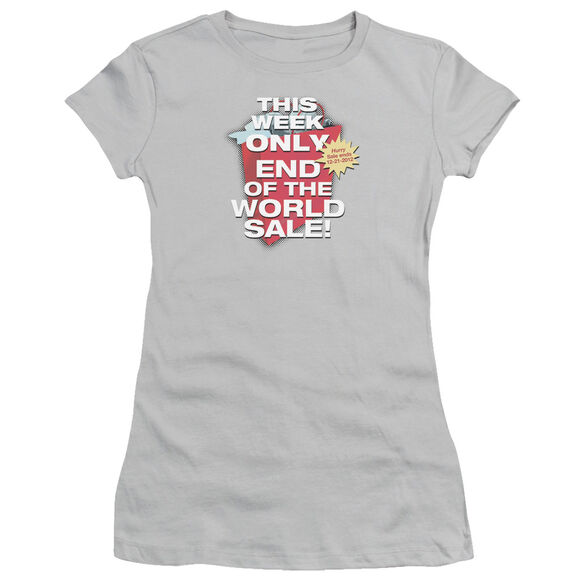 END OF THE WORLD SALE - JUNIOR SHEER - SILVER T-Shirt