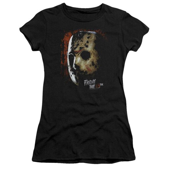Friday The 13 Th Mask Of Death Hbo Short Sleeve Junior Sheer T-Shirt