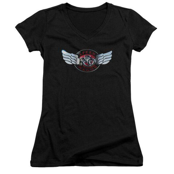 Reo Speedwagon Rendered Logo Junior V Neck T-Shirt